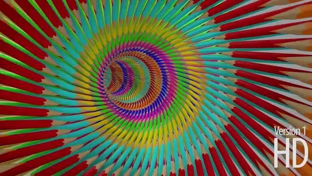 3D Pencils Tunnel: Stock Motion Graphics