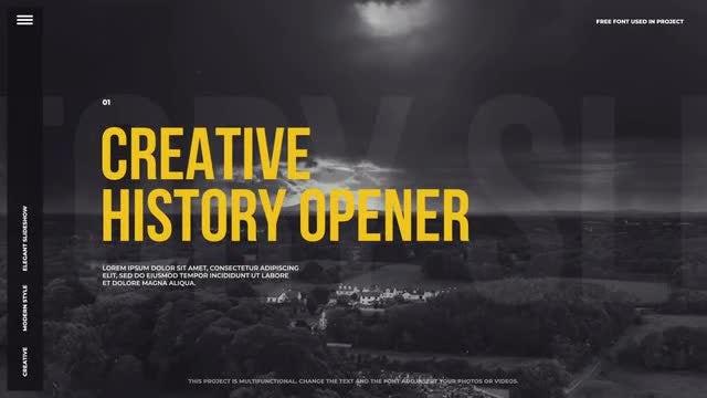 Creative History Opener: Premiere Pro Templates