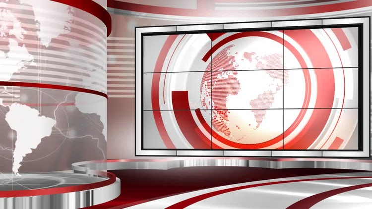 Virtual Set Newscast Left: Stock Motion Graphics