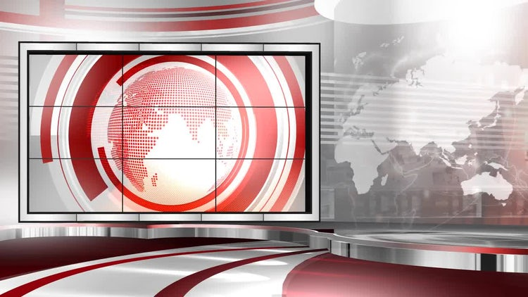 Virtual Set Newscast Right: Stock Motion Graphics
