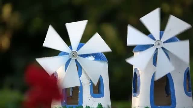 Danish Lawn Windmills: Stock Video