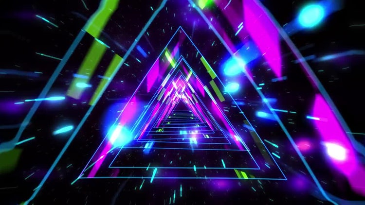 Triangle Lights Pathway: Stock Motion Graphics