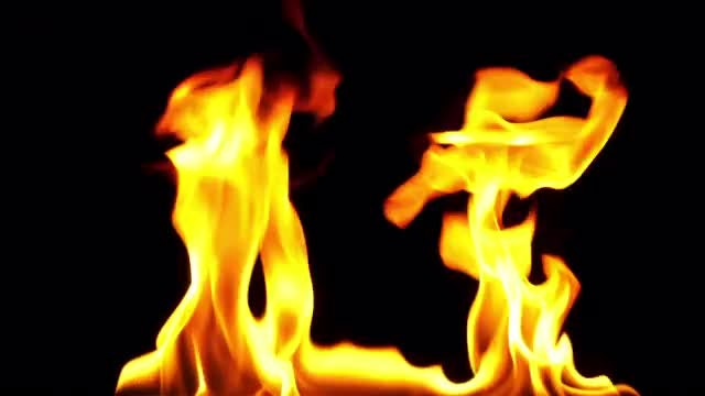 Two Flame Pillars: Stock Video