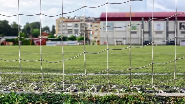 Empty Soccer Field: Stock Video