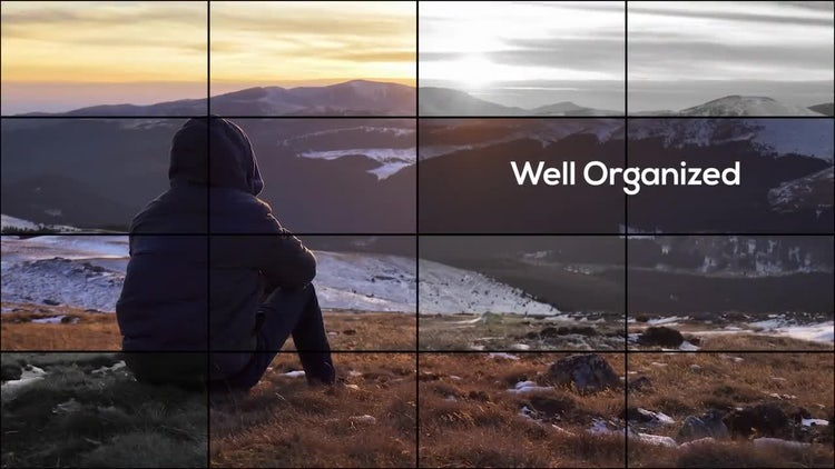 Elegant Grid Photo Slideshow: Premiere Pro Templates