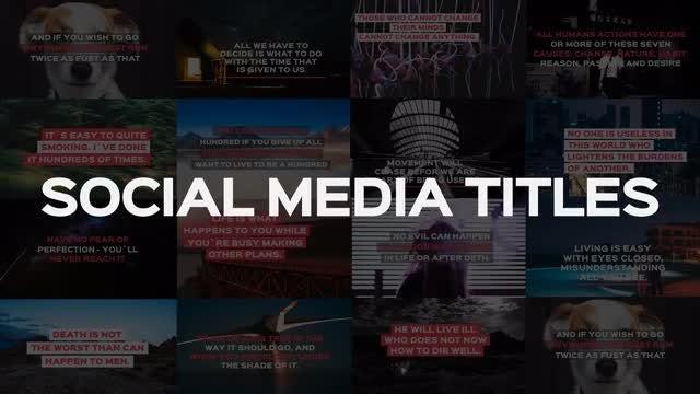 Social Media Titles: Motion Graphics Templates