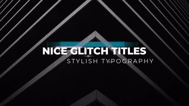 Glitch Titles: Premiere Pro Templates