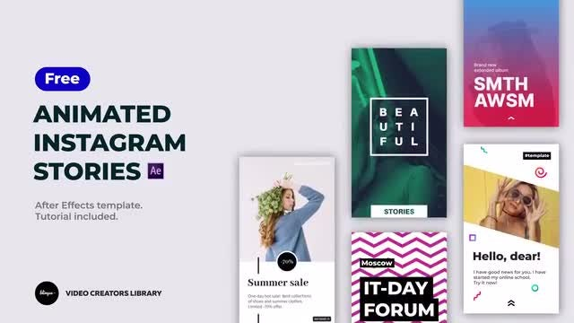 Free Animated Instagram Stories: After Effects Templates