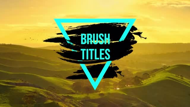 Brush Titles: Premiere Pro Templates