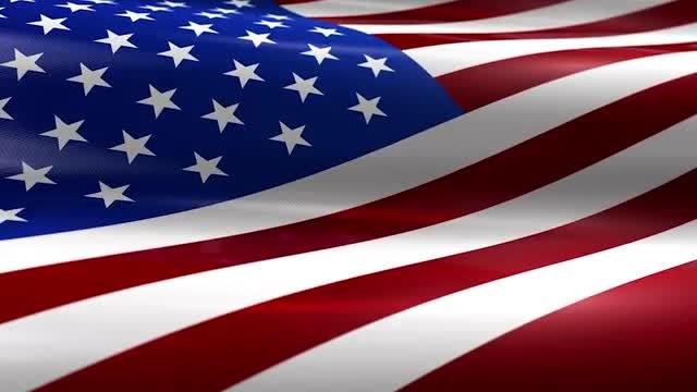 USA American Flag 4K: Stock Motion Graphics