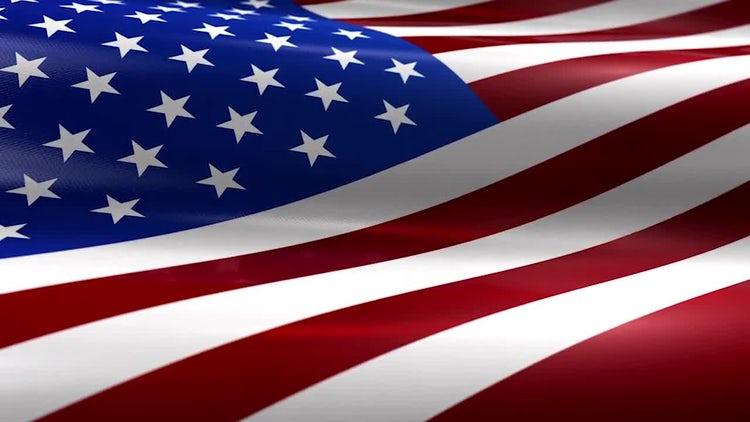 USA American Flag 4K: Motion Graphics