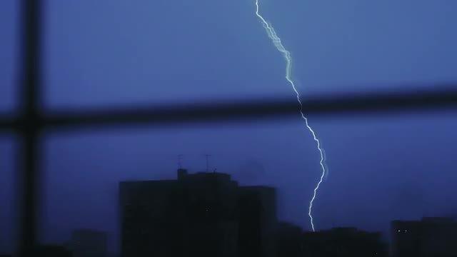 Lightning Strike From Window: Stock Video