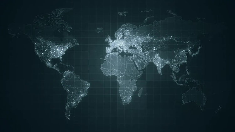 Pack of Global World Maps: Stock Motion Graphics