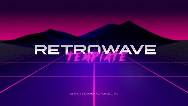 Retrowave Logo Reveal: After Effects Templates