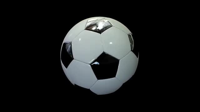 Realistic Soccer Ball: Stock Motion Graphics