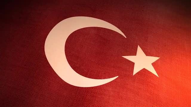 Realistic Turkish Flag: Stock Motion Graphics