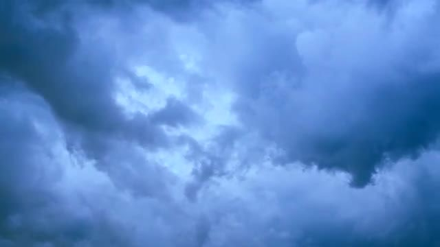 Clouds Scatter After Storm: Stock Video