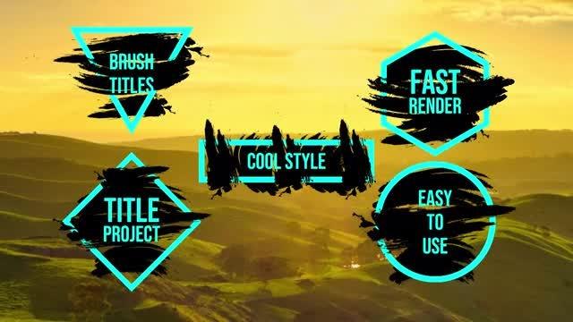 Brush Titles: Motion Graphics Templates