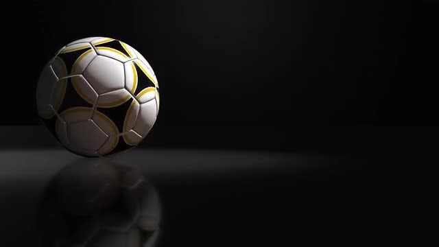Soccer Ball Background: Stock Motion Graphics