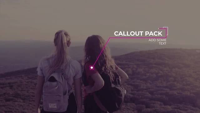 Elegant Minimal Callouts: After Effects Templates