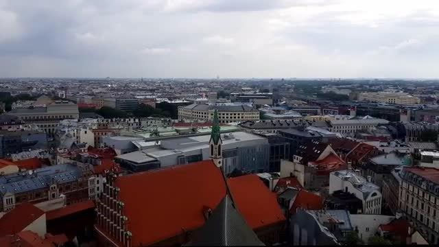Riga Cityscape Time-Lapse: Stock Video