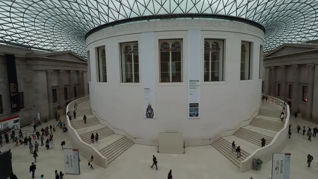 Queen Elizabeth II Great Court: Stock Video