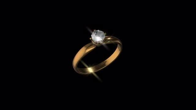 Gold Diamond Ring: Stock Motion Graphics