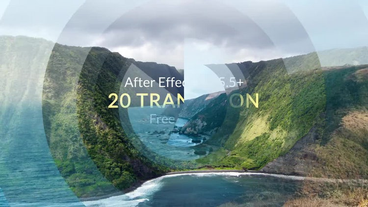 20 Transitions Free: After Effects Templates