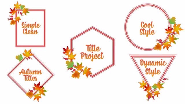 Autumn Titles: After Effects Templates