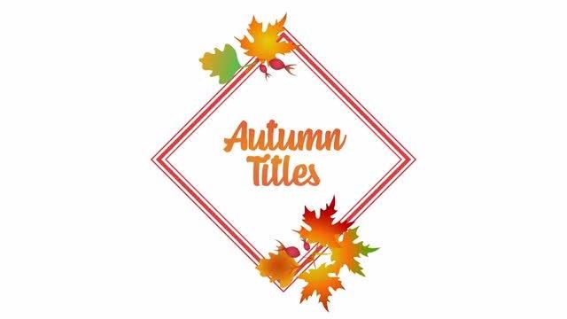 Autumn Titles: Premiere Pro Templates
