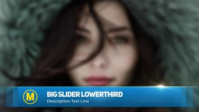 Big Slider Lower Third: After Effects Templates