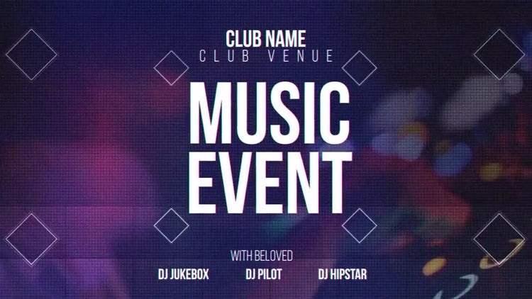Music Event: After Effects Templates