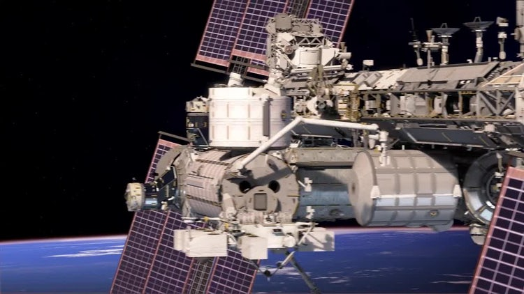Space Station Fly By: Stock Motion Graphics