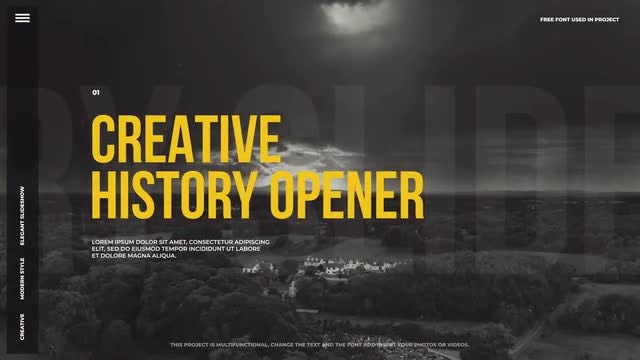 Creative History Opener: After Effects Templates