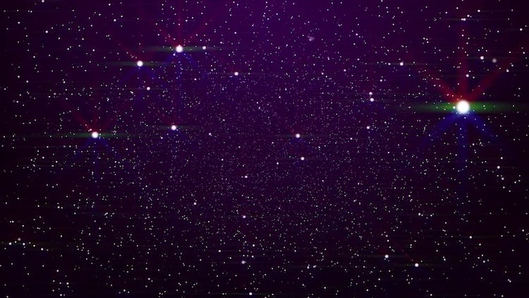 Glowing Stars Background: Motion Graphics