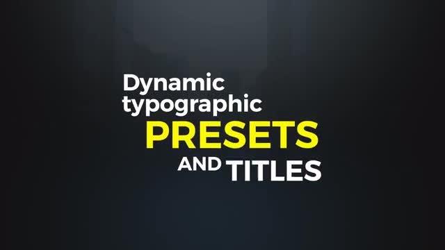Dynamic Typographic Presets: Premiere Pro Presets