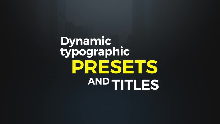 Dynamic Typographic Presets: Premiere Pro Templates