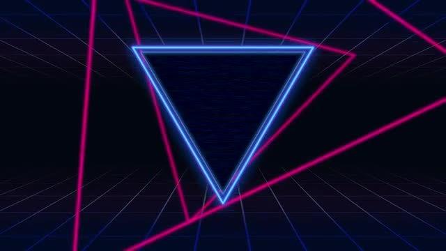 80's Retro Futuristic Loop: Stock Motion Graphics