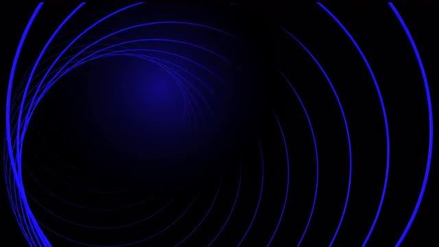 Blue Neon Tube: Stock Motion Graphics