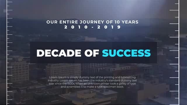 Decade Of Success: Premiere Pro Templates