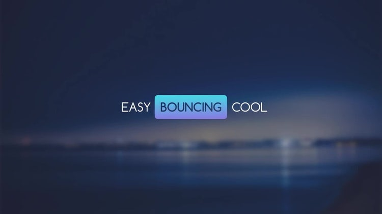 Bouncing Titles: After Effects Templates