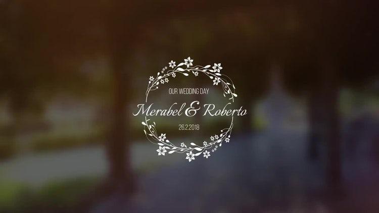 Wedding Title V1: Premiere Pro Templates