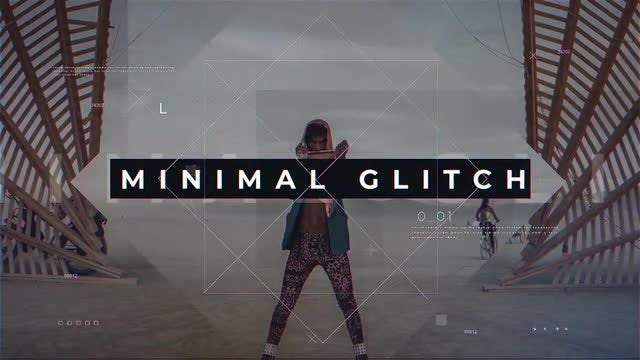 Minimal Glitch Promo: After Effects Templates