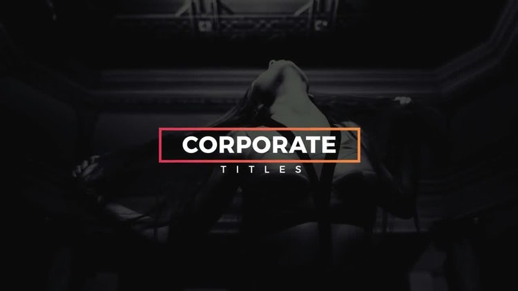 20 Modern Corporate Titles: After Effects Templates