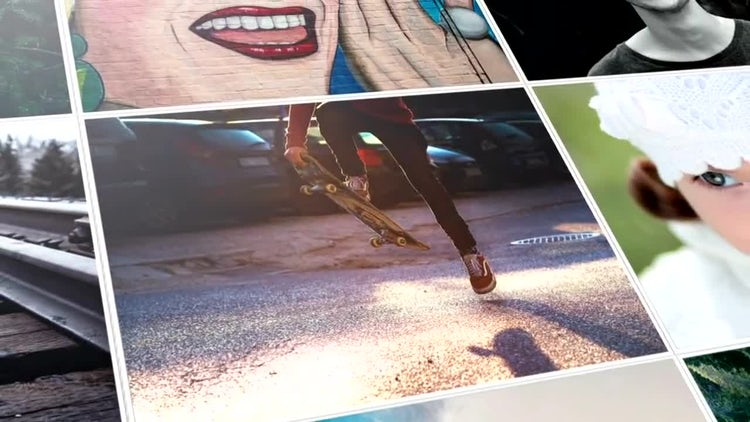 Clean Mosaic Slideshow: After Effects Templates