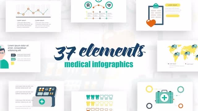 Infographics Medicine Elements 2: After Effects Templates