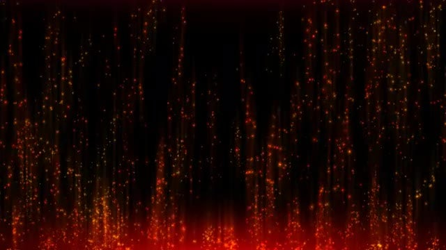 Red-Orange Particles: Stock Motion Graphics