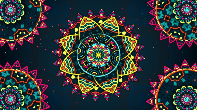Flower Kaleidoscope: Stock Motion Graphics