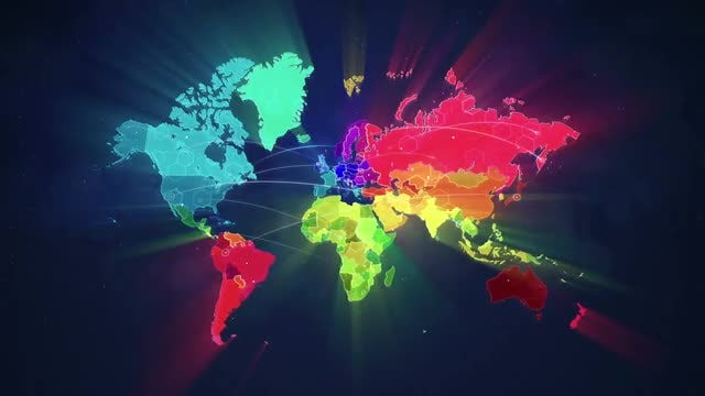 Colorful Map: Stock Motion Graphics