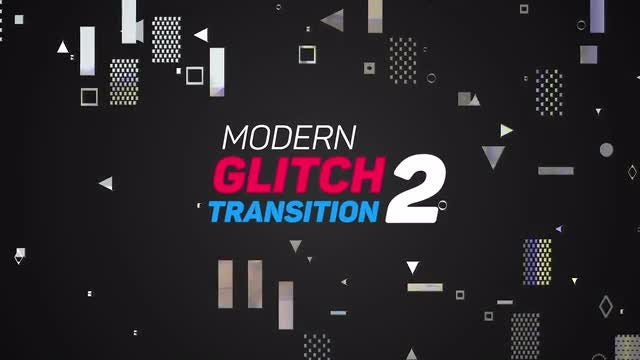 Modern Glitch Transitions 2: Premiere Pro Templates